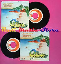 LP 45 7''COLLAGE Un'altra estate Mania 1979 italy RICORDI SRL 10903*no cd mc vhs