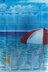 Sea for Two Standard House Flag by Evergreen #3612 Ocean Beach Chairs