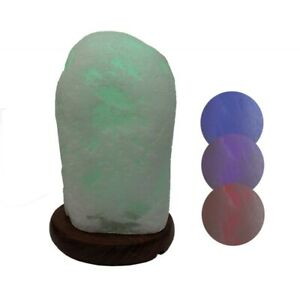 Gemstone Night Table Lamp Mountain Crystal LED Tumbled Colour Chaning Real Stone