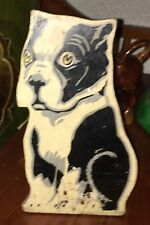 RARE Sitting Bulldog Doorstop Original Paint c.1920 Handmade Primitive