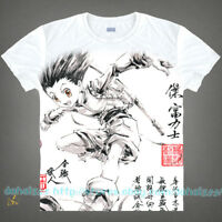 Anime HUNTER×HUNTER Casual Short Sleeve  White Unisex Otaku T-Shirt Tops #C43