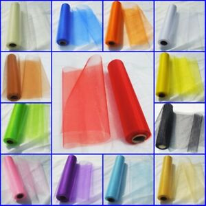 Organza Sheet 29cm x 5m Fabric Party Cosplay Sash Bows Wedding Crafts No Roll
