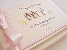Handmade Personalised Flip Flops Beach Themed Wedding Guest Book