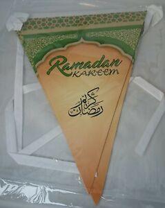 RAMADAN MUBARAK KAREEM Party Decorations Banners Ramadhan Flags Chains Bunting
