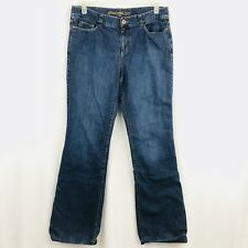 Eddie Bauer Bootcut Flannel Lined Jeans Size 10 Tall Medium Blue Wash