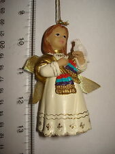 Feliz Navidad Ornament Girl With Dove Resin 2482C 267