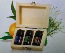 doTERRA ESSENTIAL OILS IN A GIFT BOX TRIO - Melaleuca, Peppermint, Wild Orange