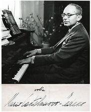 JEWISH Composer MARIO CASTELNUOVO TEDESCO Hand SIGNED AUTOGRAPH + PHOTO + MAT