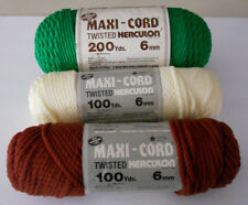Maxi-Cord Twisted Herculon Cord Mixed Lot 3 Skeins 400 Yards Total