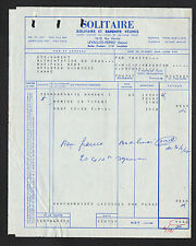 """LEVALLOIS-PERRET (92) PRODUITS D'ENTRETIEN """"SOLITAIRE & SAPONITE Réunis"""" en 1957"""