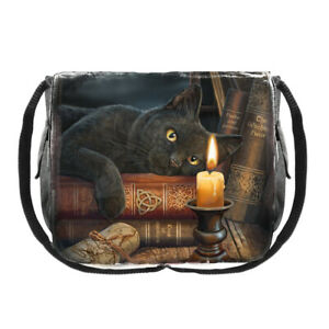 Witching Hour Cat Messenger Bag by Lisa Parker 40 cm Occult Mystical Handbag
