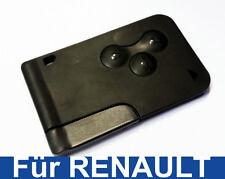 3Tasten Llave Mapa Carcasa para Renault Megane Tarjeta de reemplazo con Barba