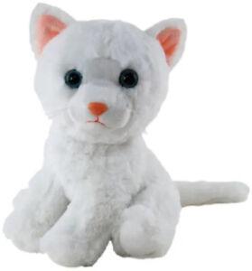 Cat White Plush Stuffed Toy 20cm Otis by Elka Australia