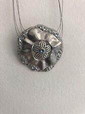 Touchstone Crystal By Swarovski Sand Dollar Pendant Neckalce USA $69 Aquamarine