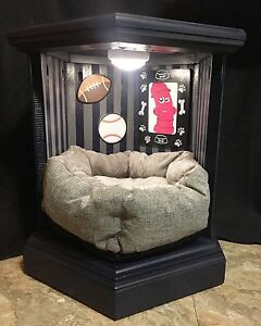 Customized Handmade Wood Pet Bed With Custom Picture Frame
