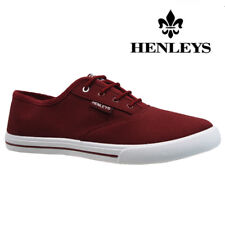 03b76e6fc48 MENS HENLEYS LACE UP TRAINERS CASUAL CANVAS SKATES PUMPS SHOES PLIMSOLLS  SIZE