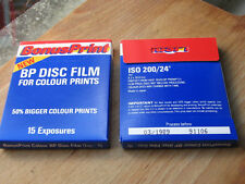 2x Disc   200asa 15 exposure films outdate/expired 1989