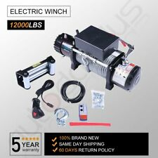 12V 12000Lb Electric Winch Towing Trailer Steel Cable Off Road for Jeep Wrangler