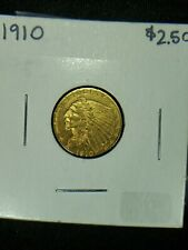 1910  GOLD  COIN    AMERICAN INDIAN  QUARTER EAGLE  ABSOLUTE HIGHER GRADE  9 PIC