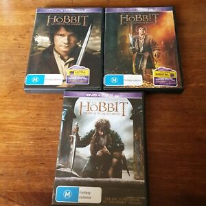 The Hobbit Trilogy DVD R4 Like New! FREE POST