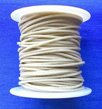 25 FEET of GAVITT 22 GAUGE VINTAGE STYLE PUSH BACK CLOTH COVERED WIRE WHITE