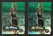 ~ 1999-00 Fleer Mystique TIM DUNCAN Gold & Silver 2 Card Lot ~ Spurs ~