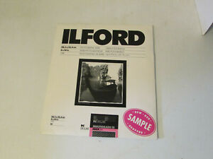 """Ilford Multigrade III Deluxe Photo Paper, 8 x10"""", 10 Sheets NEW Sealed Sample"""