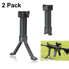 2Pack Vertical Hand Front Fore Grip Foregrip Bipod Picatinny Weaver Rail 20mm