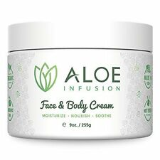 Moisturizer Cream for Face & Body for Acne Dry & Itchy Skin 9oz by Aloe Infusion