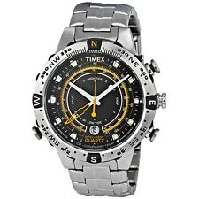 Timex Mens Intelligent Quartz Stainless Tide Temp Compass Watch T2N738