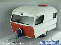 CARAVAN MODEL 1:43 SCALE TRAILER RV MOTOR HOME WHITE CARARAMA 60'S/70'S K8