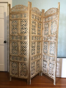 wood room divider privacy screen