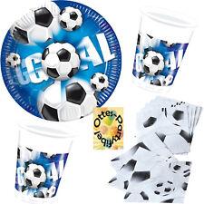 Fußball Football Goal Partyset 40 Teile für 10 Kinder Teller Becher Servietten