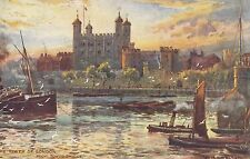 TUCK :PICTURESQUE COUNTIES-London-Tower of London-W MATTHISON -OILETTE 7845