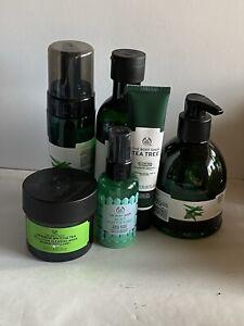 Body Shop Tea Tree Wash,Toner,Hydrator,Hand Wash,Matcha Mask + 2 🎁