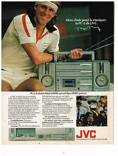 PUBLICITE ADVERTISING 054 1981  JVC   CHAINE HI-FI PC5  BJORN BORG
