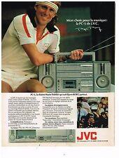 PUBLICITE ADVERTISING 054 1981  JVC   CHAINE HI-FI PC5  BJORN BORG