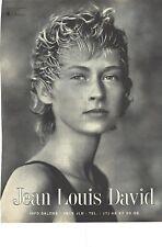 PUBLICITE ADVERTISING 1994  JEAN LOUIS DAVID coiffeur
