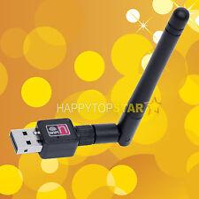 USB 150M Wireless LAN Adapter 802.11b/n/g WiFi 2dBi 150Mbps With 2db Antenna PC