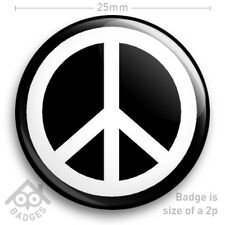 "Hippy Fancy Dress Badge Set  1¾/"" 45mm x 5 Hippie"