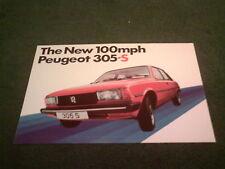 1980 1981 PEUGEOT 305 S SALOON - UK PART COLOUR LEAFLET BROCHURE