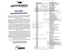 Northwest Airlines Jeppesen Commemorative Chart NWA