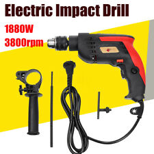 220V 1880W Electric Impact Drill Wrench Gun 13MM Chuck Torque Drive Power Tool