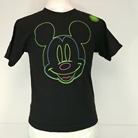 Walt Disney Mickey Mouse Happy Face Neon Glow in the Dark T-shirt