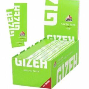2500 CARTINE GIZEH SUPER FINE 12gr/m- 1 BOX 50 LIBRETTI CARTINA CORTA