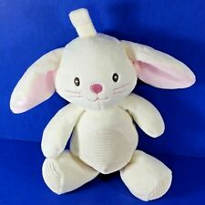 """Baby Bunny Clip On Rattle Soft Toy Plush Rabbit Pink White Stuffed 11"""""""