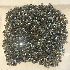 25 X 4mm Crystal Volcano Bicone Swarovski Crystal Beads C64