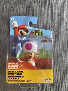 "Jakks World Of Nintendo Super Mario Purple Toad 2.5"" Collectible Figure New"