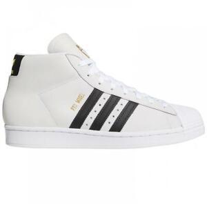 ADIDAS SKATEBOARDING PRO MODEL FOOTWEAR WHITE/CORE BLACK/GOLD METALIC SHOES