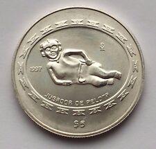 1997 MÉXICO 5 PESOS JUGADOR DE PELOTA 1 OZ .999 SILVER COIN